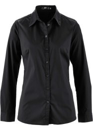 Camicia bacis a maniche lunghe, bpc bonprix collection, Nero