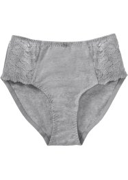 Slip alto, bpc bonprix collection, Grigio melange