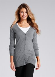 Cardigan, bpc bonprix collection, Grigio melange
