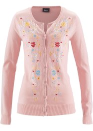 Cardigan ricamato, bpc bonprix collection, Rosa antico
