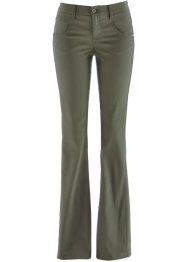 Pantaloni effetto snellente bootcut, bpc bonprix collection, Verde oliva scuro