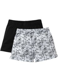 Shorts (pacco da 2), bpc bonprix collection, Fantasia / nero