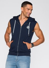 Gilet di felpa slim fit, RAINBOW, Blu scuro