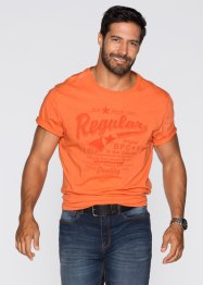 T-shirt regular fit, bpc bonprix collection, Arancione