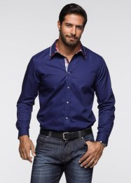 Camicia a manica lunga regular fit, bpc selection, Blu scuro