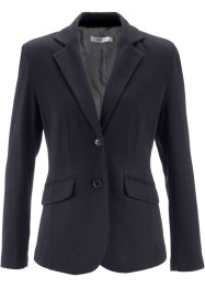 Blazer in jersey, bpc bonprix collection, Nero