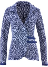 Cardigan, bpc bonprix collection, Blu notte / bianco