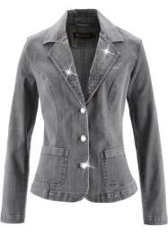 Blazer di jeans, bpc selection, Grigio denim