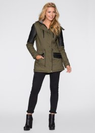 Parka con inserti in similpelle, RAINBOW
