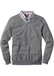 Pullover con colletto regular fit, bpc selection