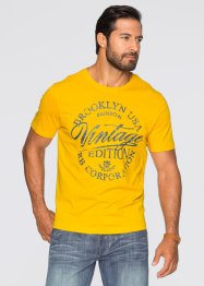 T-shirt slim fit, John Baner JEANSWEAR, Zafferano