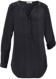 Blusa a manica lunga, bpc bonprix collection, Nero