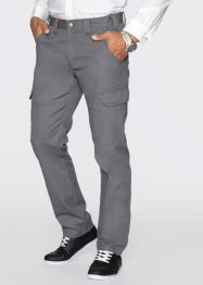 Pantalone cargo diritto regular fit, bpc bonprix collection, Grigio fumé