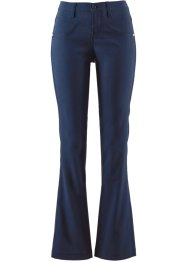 Pantaloni effetto snellente bootcut, bpc bonprix collection, Blu scuro