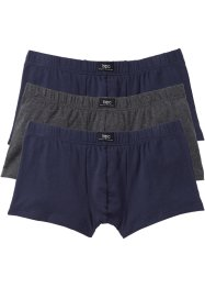 Boxer (pacco da 3), bpc bonprix collection, Antracite melange / blu scuro