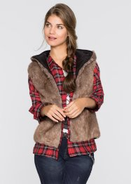 Gilet in ecopelliccia double face, RAINBOW