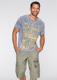 T-shirt slim fit, RAINBOW, Blu