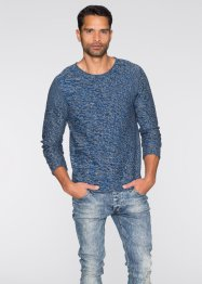 Pullover slim fit, RAINBOW, Blu scuro melange