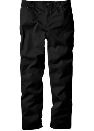 Pantalone elasticizzato classic fit straight, bpc bonprix collection, Nero