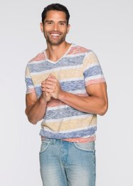 T-shirt slim fit, RAINBOW, Bianco / multicolore a righe