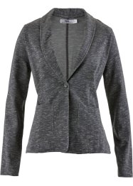 Blazer in felpa, bpc bonprix collection, Grigio melange