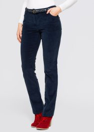 Pantaloni in velluto, bpc bonprix collection, Blu scuro