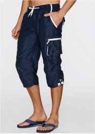 Pantalone 3/4 con elastico regular fit, bpc bonprix collection, Blu scuro