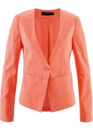 Blazer in misto lino, bpc selection, Salmone