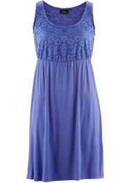Abito in jersey con pizzo, bpc bonprix collection, Blu violetto