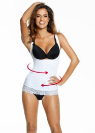 Top modellante, bpc bonprix collection, Bianco