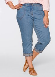 Jeans elasticizzato 7/8, bpc bonprix collection, Medium blu bleached