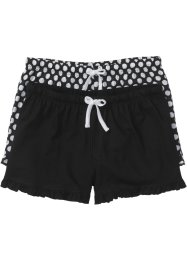 Shorts (pacco da 2), bpc bonprix collection, Nero / a pois