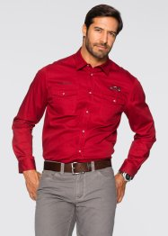 Camicia a manica lunga regular fit, bpc selection, Rosso