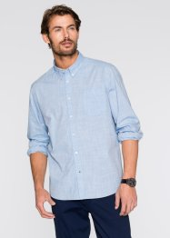 Camicia a manica lunga regular fit, bpc bonprix collection, Azzurro