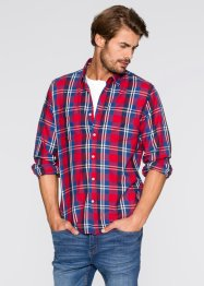 Camicia a quadri regular fit, John Baner JEANSWEAR, Rosso a quadri