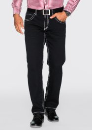 Jeans elasticizzato 5 tasche regular fit straight, bpc selection, Nero