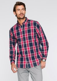 Camicia a quadri a manica lunga regular fit, bpc bonprix collection, Blu scuro / turchese a quadri