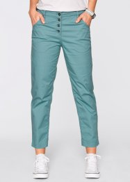 "Pantalone chino in popeline 7/8 ""Largo"", bpc bonprix collection, Blu minerale"