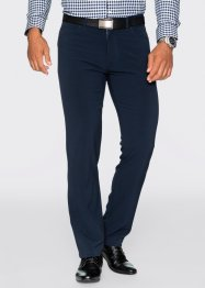 Pantalone in tecnofibra regular fit straight, bpc selection, Blu scuro