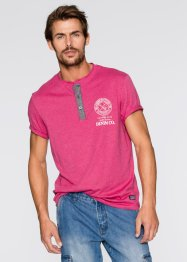 T-shirt con bottoncini regular fit, John Baner JEANSWEAR, Fucsia medio