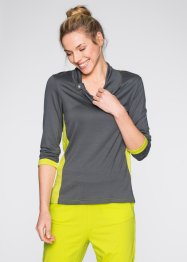 Maglia con manica a 3/4, bpc bonprix collection, Ardesia / lime