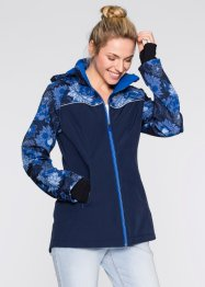 Giaccone in softshell, bpc bonprix collection, Blu scuro