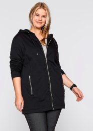 Felpa lunga con zip, bpc bonprix collection