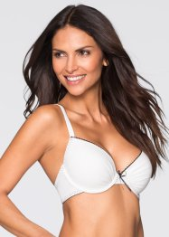 Reggiseno push-up, BODYFLIRT, Ecru / nero