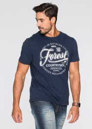 T-shirt regular fit, John Baner JEANSWEAR, Blu scuro
