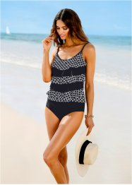 Top per tankini, bpc selection, Nero / bianco