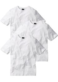 T-shirt (pacco da 3) regular fit, bpc bonprix collection, Bianco + bianco + bianco
