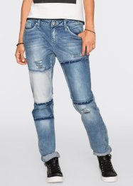 Jeans boyfriend  in stile patchwork, RAINBOW