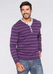 Pullover 2 in 1 regular fit, bpc bonprix collection, Nero a righe