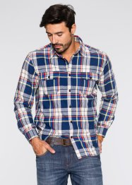 Camicia in flanella a quadri regular fit, John Baner JEANSWEAR, Blu royal a quadri